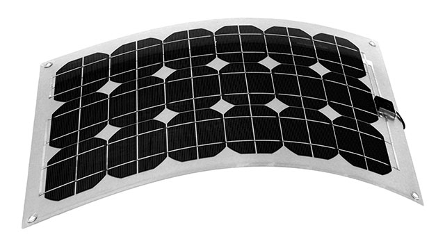 Solar power: flexible solar panel