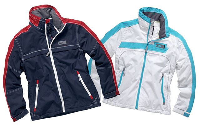 Gill's Spinnaker jacket comes in a men's (left) and a women's cut.
