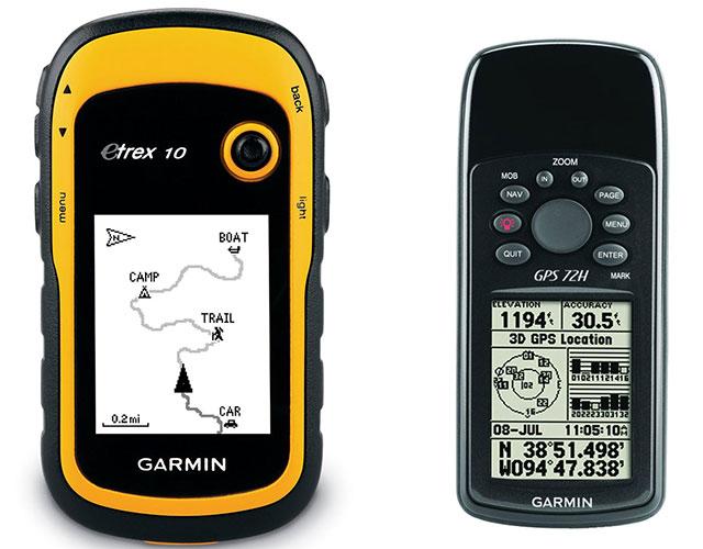 Left E Trex 10 Right GPSmap 72h