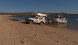 How to tow a boat across a sandy beach