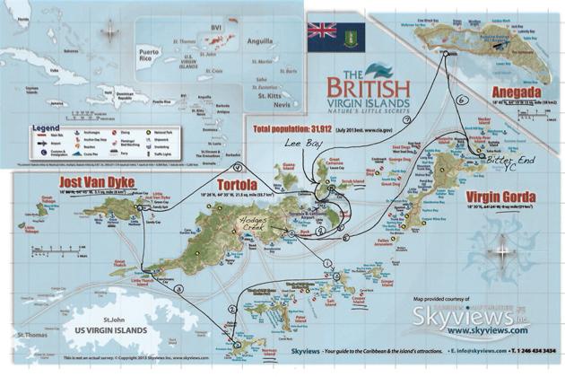 British Virgin Islands Charter A Return Boatscom - British virgin islands map