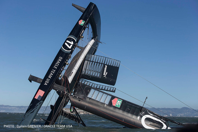 Oracel team USA capsize