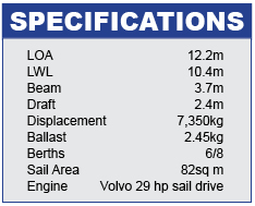 Grand Soleil 39 Specifications