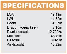 Gunfleet 43 Specifications
