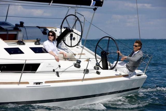 Dufour 36 under sail