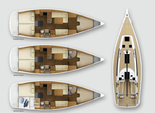 Grand Soleil 39 layout options