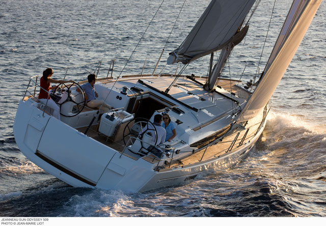 Jeanneau Sun Odyssey 509 under sail