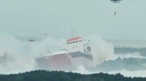 ship breaks in two