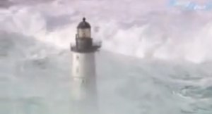 Lighthouses in waves