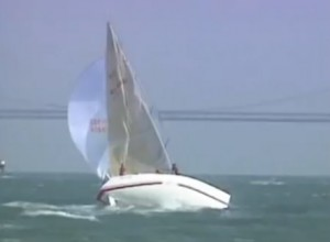 How to destroy a spinnaker!