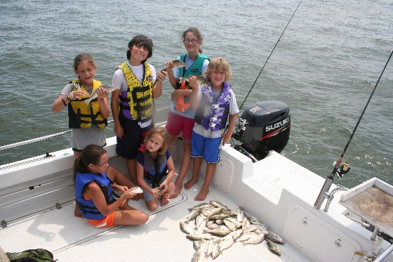 Kids out fishing