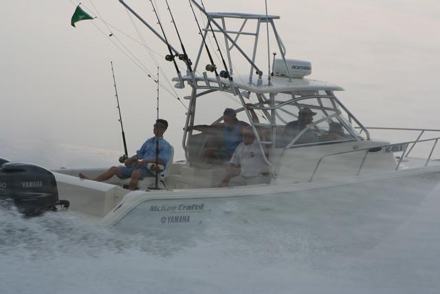 Boating in heavy fog