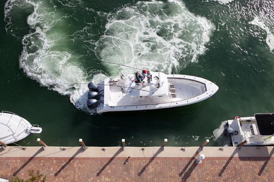 Outboard joysticks